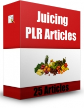 25 Juicing PLR Articles Gold Article with private label rights
