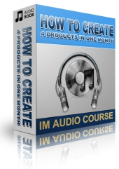 How To Create 4 Products In One Month Audio with Private Label Rights