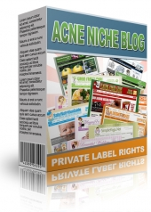 Acne Niche Blog Template with private label rights