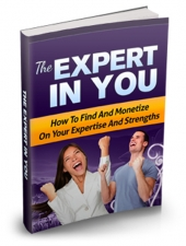 The Expert In You eBook with private label rights