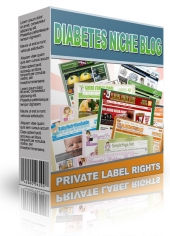Diabetes Niche Blog Template with private label rights