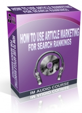 How To Use Article Marketing For Search Rankings Audio with Private Label Rights