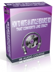 How To Write An Article Resource Box That Converts Like Crazy Audio with private label rights
