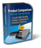 Product Comparison Article Generator Software with Personal Use Rights
