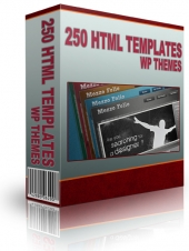 250 HTML Templates WP Themes and Graphics Template with private label rights
