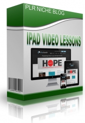 iPad Video Lessons Niche Blog Template with private label rights