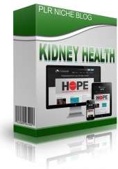 Kidney Health Niche Blog Template with Personal Use Rights