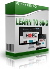 Learn To Sing Niche Blog Template with Personal Use Rights