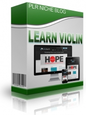 Learn Violin Niche Blog Template with private label rights
