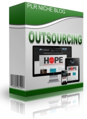 Outsourcing Niche Blog Template with Personal Use Rights