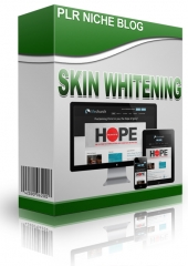 Skin Whitening Niche Blog Template with Personal Use Rights