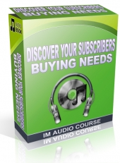 Discover Your Subscribers Buying Needs Audio with Private Label Rights