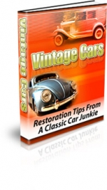 Vintage Cars eBook with Private Label Rights