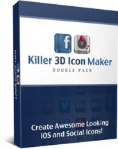 Killer 3D Icon Maker Double Pack Graphic with Personal Use Rights