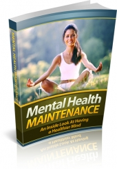 Mental Health Maintenance eBook with private label rights