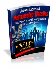 Advantages Of Membership Websites eBook with Resale Rights