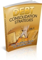 Debt Consolidation Strategies eBook with private label rights