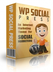 WP Social Media Press Theme Template with Master Resale Rights