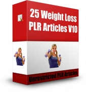25 Weight Loss PLR Articles V10 Gold Article with Private Label Rights