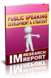 Public Speaking Development and Strategy eBook with private label rights