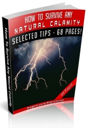 How To Survive Any Natural Calamity eBook with private label rights