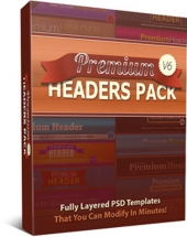 Premium Headers Pack V6 Graphic with private label rights