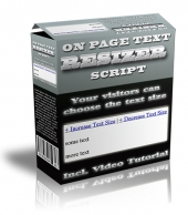 On Page Text Resizer Script Software with Master Resale Rights