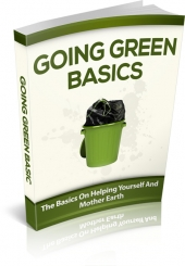 Going Green Basics eBook with private label rights