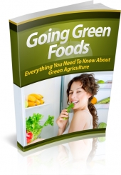 Going Green Foods eBook with private label rights