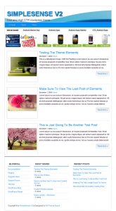 SimpleSense V2 WP Theme Template with Personal Use Rights