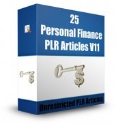 25 Personal Finance PLR Articles V11 Gold Article with Private Label Rights