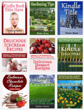 Kindle Cover Templates Graphic with Master Resale Rights