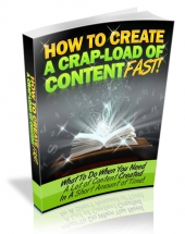 How To Create A Crap Load Of Content Fast eBook with Private Label Rights