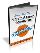 Set Up A Forum Community Using Vanilla Video with Personal Use Rights