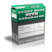 Guest Book Site Generator Software with Personal Use Rights