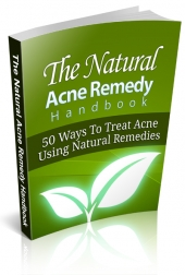 Natural Acne Remedy Handbook eBook with private label rights