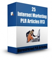 25 Internet Marketing PLR Articles V13 Gold Article with Private Label Rights