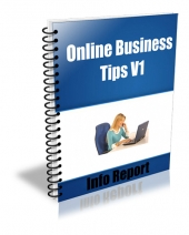 Online Business Tips V1-V4 Package eBook with Giveaway Rights