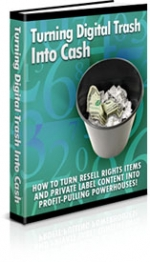 Turning Digital Trash Into Cash eBook with Private Label Rights