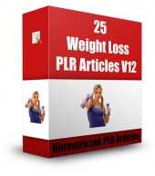 25 Weight Loss PLR Articles V12 Gold Article with Private Label Rights
