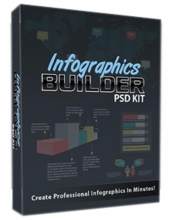 Infographics Builder PSD Kit Graphic with private label rights
