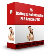 25 Dating & Relationship PLR Articles V12 Gold Article with Private Label Rights