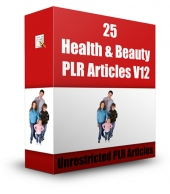 25 Health & Beauty PLR Articles V12 Gold Article with Private Label Rights