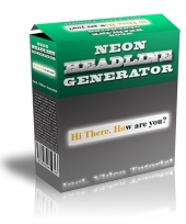 Neon Headline Generator Software with Master Resale Rights