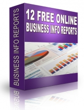 12 Free Online Business Info Reports eBook with Private Label Rights