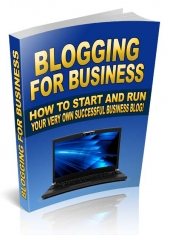 Blogging For Business eBook with Master Resell Rights