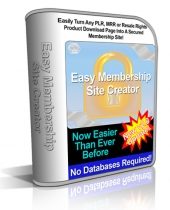 Easy Membership Site Creator v2 Software with Personal Use Rights