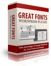 Great Fonts Plugin For WordPress Software with Personal Use Rights