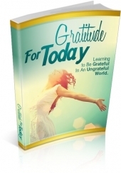 Gratitude For Today eBook with private label rights