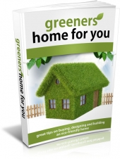 Greener Homes For You eBook with private label rights